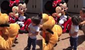 Deaf boy's meeting with Minnie and Mickey goes viral!
