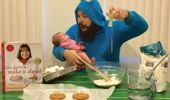 Dad and daughter's adorable photos!