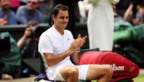 Watch as an emotional Roger Federer sheds tears after his dramatic Wimbledon victory