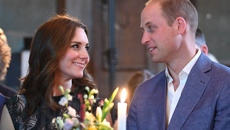 The Duke and Duchess can't keep their eyes off each other as they're snapped in Berlin