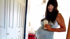 The amazing moment an unborn baby appears to 'hi-five' its parents