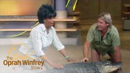 Steve Irwin and Bubba the alligator meet Oprah!
