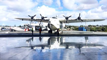 Lorna's husband and the team restoring beloved seaplanes