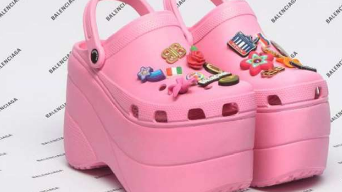 The team at Crocs is thrilled with the high fashion collaboration. Photo / Instagram, Crocs