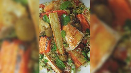Allyson Gofton - Tabbouleh with Chicken and Roast Vegetables