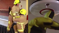 Watch these firefighters reenact the iconic scene from 'Dirty Dancing'