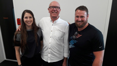 World Champion Shot Putter Tom Walsh and Olympic Medalist Eliza McCartney visit Coast.