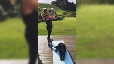 Toni Street shares hilarious snap of her adorable workout partner