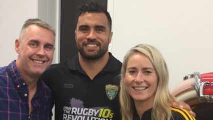 Jason and Bernadine chat to Liam Messam