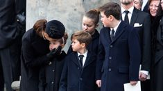 The emotional moment Princess Mary comforts her children at Prince Henrik's funeral