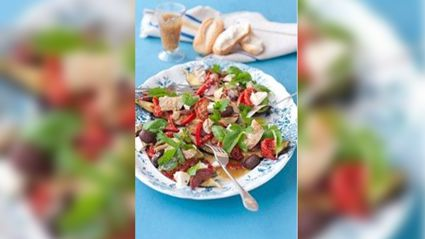 Allyson Gofton - Antipasto salad with roasted garlic dressing