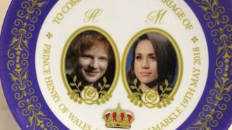 Ed appears on royal plate