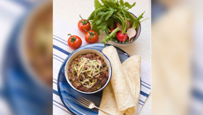 Allyson Gofton - Mexican frijoles with radish and tomato salad