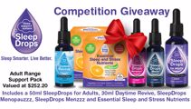 Win a complete SleepDrops Adult Range Sleep and Stress Support Pack!