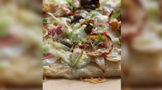 Allyson Gofton - Buffalo Mozzarella Cheese and Fennel Pizza