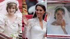 Diana, Meghan, & Kate, a side by side comparison of the royal weddings