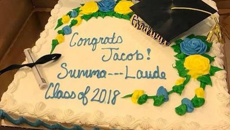 Mother mortified after supermarket censors son's graduation cake