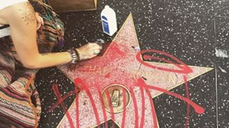 Michael Jackson's star vandalised