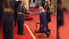 Barry Gibb is knighted by Prince Charles as he pays tribute to his late brothers