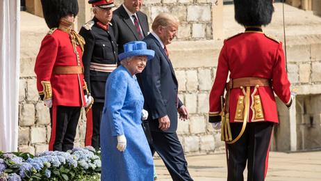 Trump breaks royal protocol
