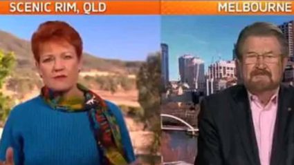Watch Pauline Hanson tell Deryn Hinch to 'Go back to New Zealand!'