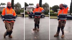 Construction worker's amazing rock 'n roll routine goes viral