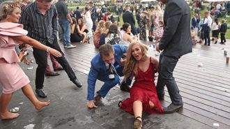 Photos: The aftermath of a very boozy Melbourne Cup
