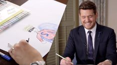 Watch Michael Bublé draw pictures for sick Kiwi kids in a very heart-warming video