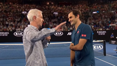 """John McEnroe is slammed for """"appalling"""" post match interview with Roger Federer"""