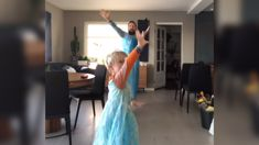 Father and son go viral after dancing to a Frozen song together