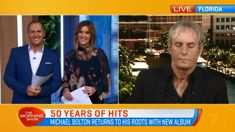 Watch the hilarious moment Michael Bolton falls asleep on live TV