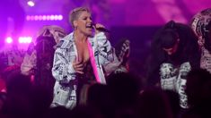 Watch Pink perform an incredible medley of all her hits at the Brit Awards!