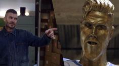 Watch James Corden hilariously prank David Beckham with a horrendous statue