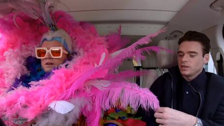 Watch Taron Egerton's Carpool Karaoke with his Rocketman co-star Richard Madden
