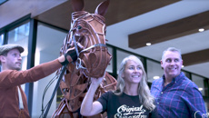 Jase and Bernie meet the stars of War Horse