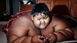 World's biggest child shows off INCREDIBLE transformation after losing over half his body weight!