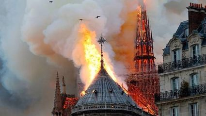 Notre Dame Cathedral in Paris engulfed in fire