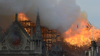 Notre Dame fire: Officials share the first photos of inside the cathedral