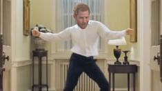 To celebrate Baby Sussex Prince Harry has been photoshopped into Hugh Grant's iconic 'Love Actually' dance scene