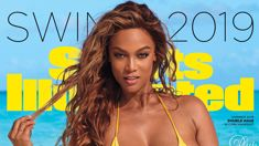 Tyra Banks returns to modelling and STUNS in skimpy bikini on the cover of Sports Illustrated Swimsuit