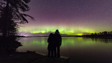 This is where you'll have the perfect view of the spectacular Southern Lights tonight
