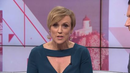 Hilary Barry hits back after Seven Sharp viewer complains about her showing too much cleavage