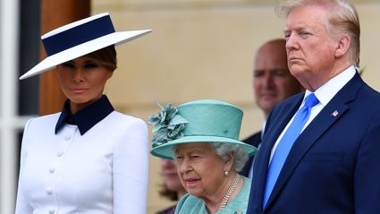 Melania Trump channels Princess Diana with chic outfit during visit with the royal family