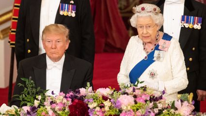 Donald Trump broke royal protocol at the banquet with Queen Elizabeth and people are NOT happy