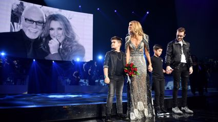 Celine Dion's sons joined her on stage for emotional tribute to René at her FINAL Las Vegas show