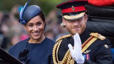 "Prince Harry gets caught on camera ""telling off"" Meghan Markle at Trooping the Colour"