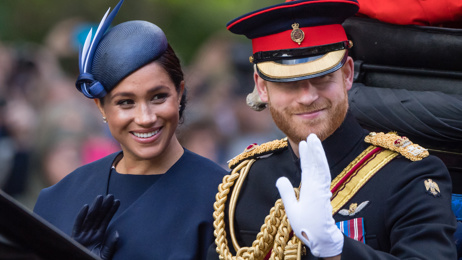 """Prince Harry gets caught on camera """"telling off"""" Meghan Markle at Trooping the Colour"""