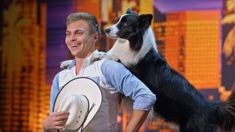 Border Collie wows America's Got Talent judges with incredible dance routine to 'Footloose'