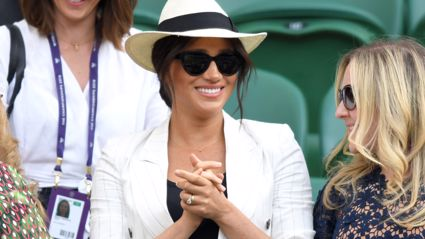 Meghan Markle shares sweet tribute to Archie during surprise appearance at Wimbledon
