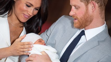 Prince Harry and Meghan Markle release official photos from Archie's christening - with a tribute to Diana